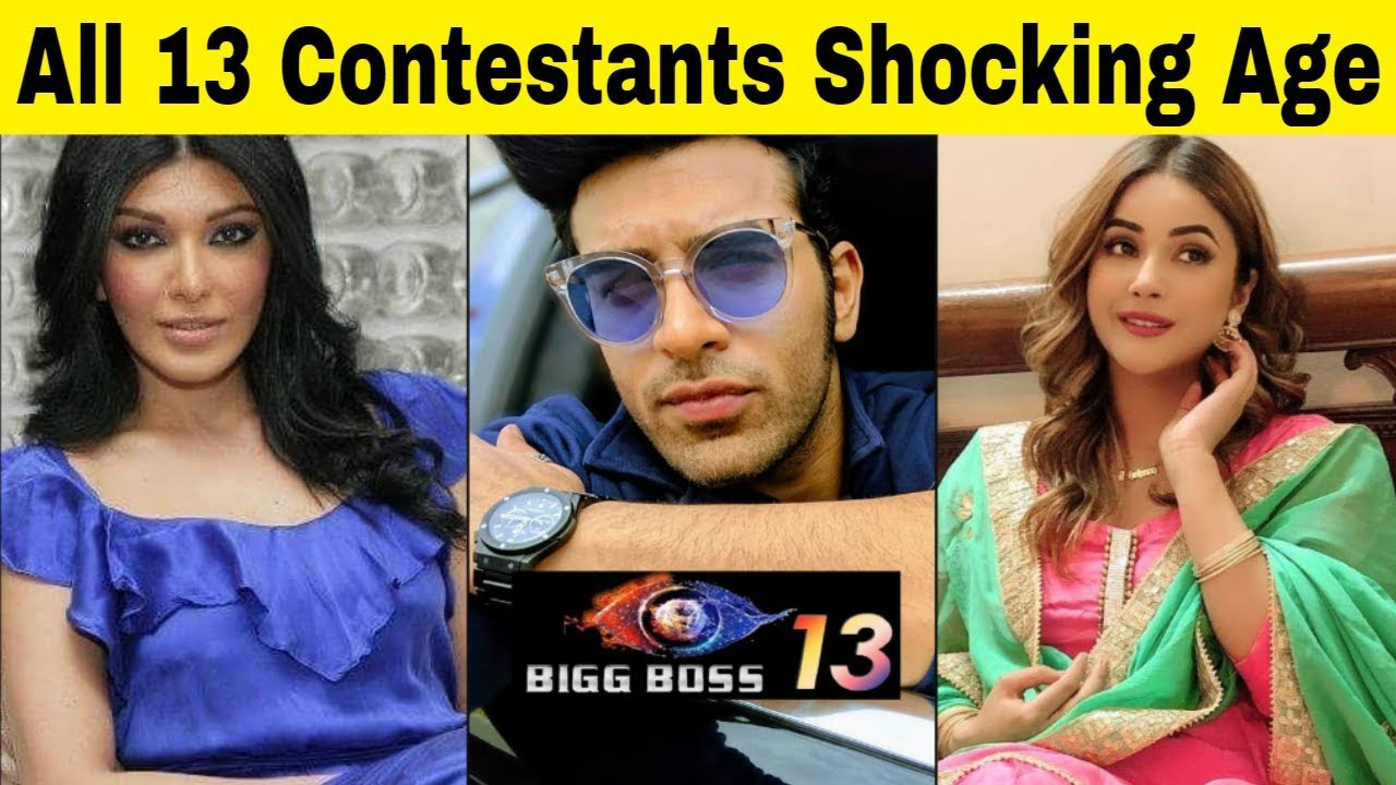 Real Names And Age Of Bigg Boss 13 Contestants Facts Dot Com