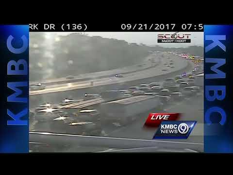 Crash snarls traffic Thursday on EB I-70 near I-670