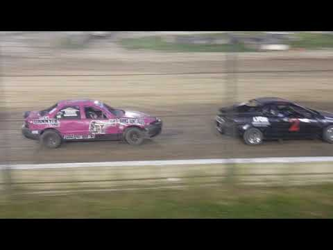 A quick strut change between her heat race and the B-Main made a HUGE difference. Car still could have been better but at least she had a piece under her that ... - dirt track racing video image