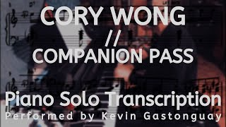 Cory Wong // Companion Pass (Piano Solo Transcription)