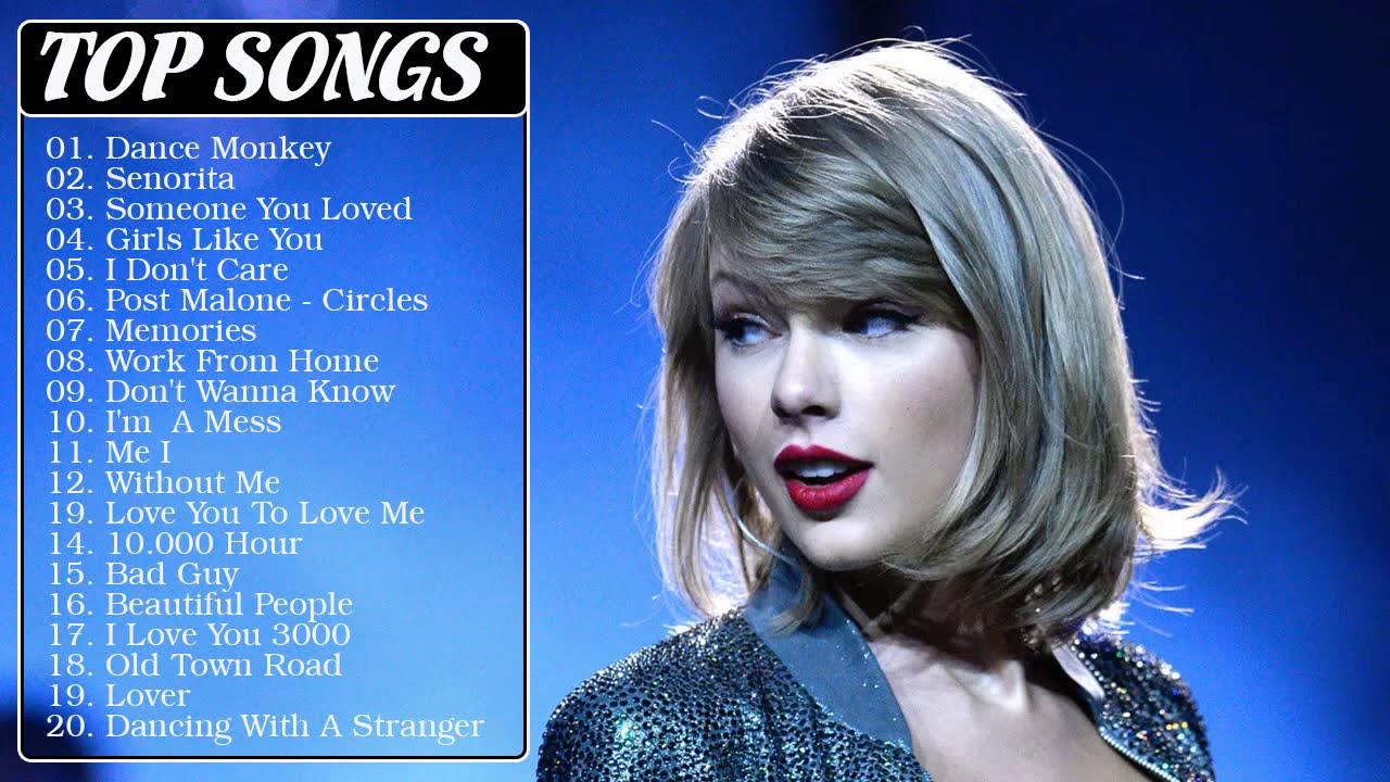 Taylor Swift , Ariana Grande, Ed Sheeran ,Maroon 5, Adele, Sam Smith, Justin Bieber - Top Songs 2021