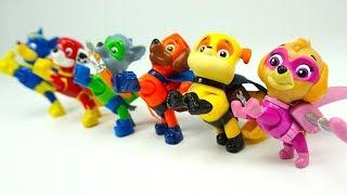 Распаковываем игрушку Щенячий Патруль c героями мультика