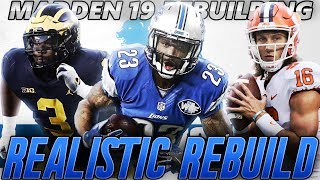 Madden 19 Franchise | Detroit Lions Realistic Rebuild | Rashan Gary to the Lions!