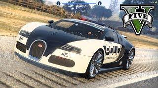 POLICYJNY Bugatti Veyron VS ZŁODZIEJASZKI! - FiveM czyli GTA Online - Hogaty i Bartek #03