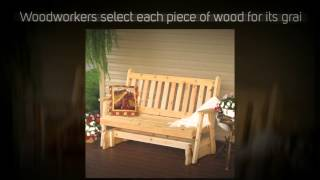 Al Furniture Co. Traditional English Red Cedar Porch Glider