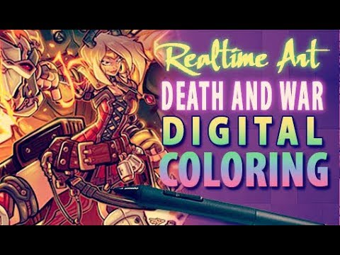 Realtime Art - Death And War Cover - Digicoloring