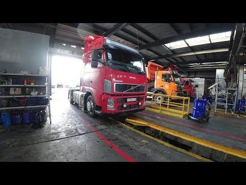 Замена масла в КПП и мосту Volvo FH. Откуда сливать, где уровень, сколько литров и сколько стоит?