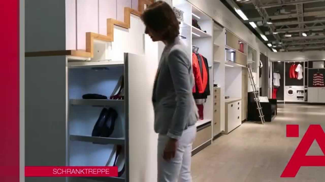 eine garderobe, die überall passt: die schranktreppe. - youtube