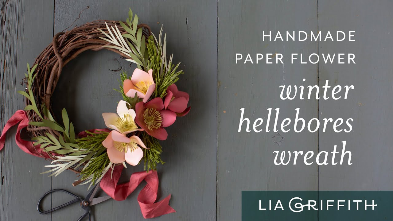 Video: Paper Hellebore Winter Wreath