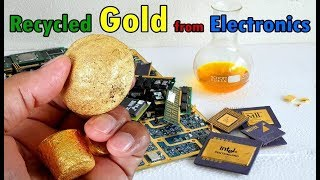 Recycle gold from electronics devices. e-waste Recycling scrap components connectors circuit Boards.