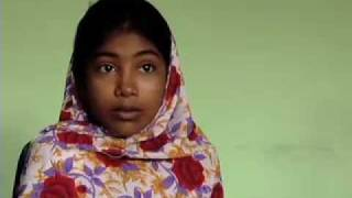 Child Labor: 11 year-old Halima sews clothing for Hanes