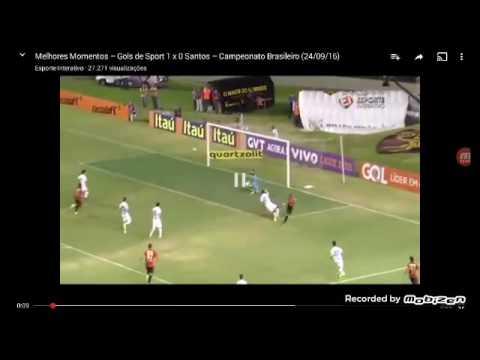 Melhores Momentos - Gol de Sport 1x0 Santos - Brasileirão 24/09/16