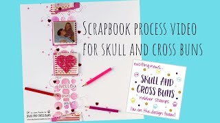 Scrapbook Layout for Skull and Cross Buns