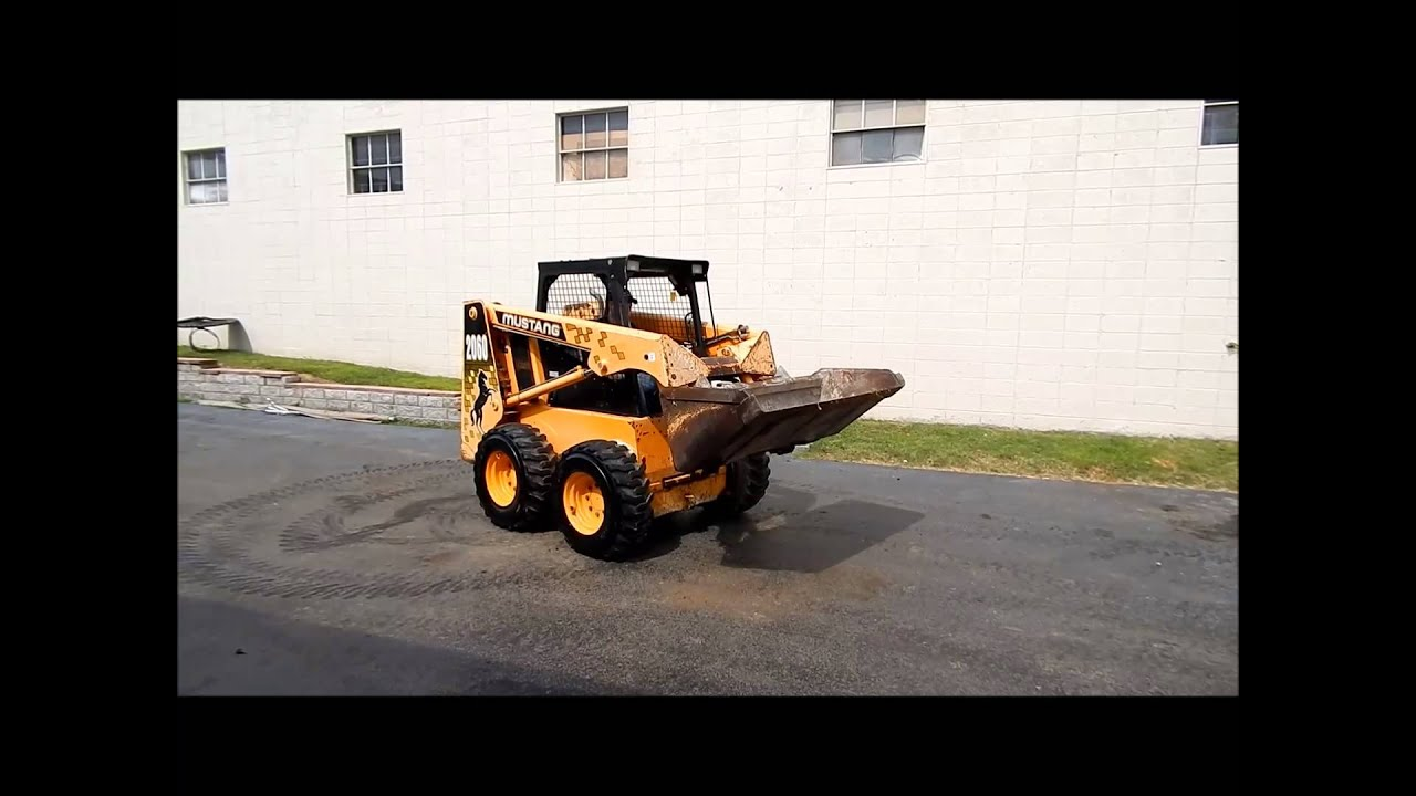 1996 Mustang 2060 skid steer for sale   sold at auction July 25, 2013