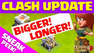 Clash of Clans UPDATE ♦ Town Hall 11 Update SNEAK PEEK- Bigger, Longer!