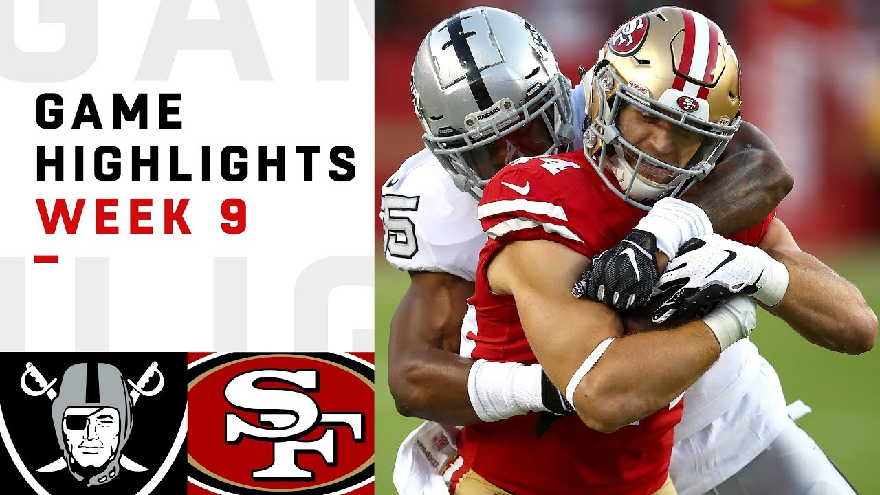 Raiders vs. 49ers Week 9 Highlights  4cf39c974