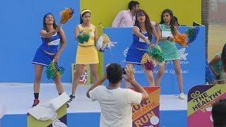 Hottest Cheerleaders Group Hot Dance,Mumbai,India.Indian Cheerleader in Sports event