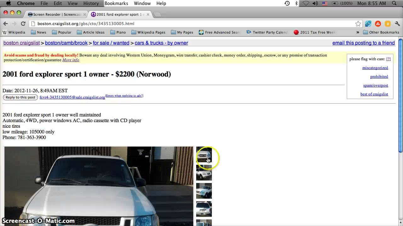 Craigslist Boston Used Cars, Appliances And Furniture For Sale By Owner    Deals For 2013   YouTube