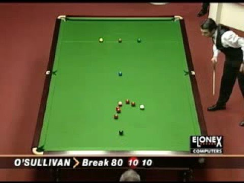 THE FASTEST SNOOKER 147 BREAK EVER - by  Ronnie O'Sullivan