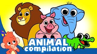 Learn Animals for Kids | Land and Sea Animals videos Compilation for Children | Club Baboo