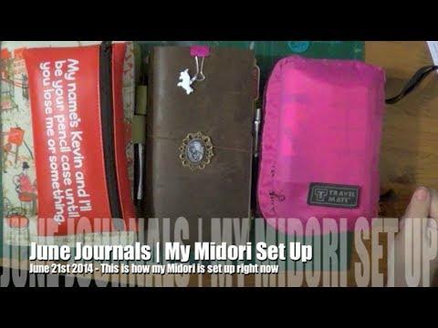 Planner & Journal Set Up | Midori Traveler's Notebook | Summer 2014