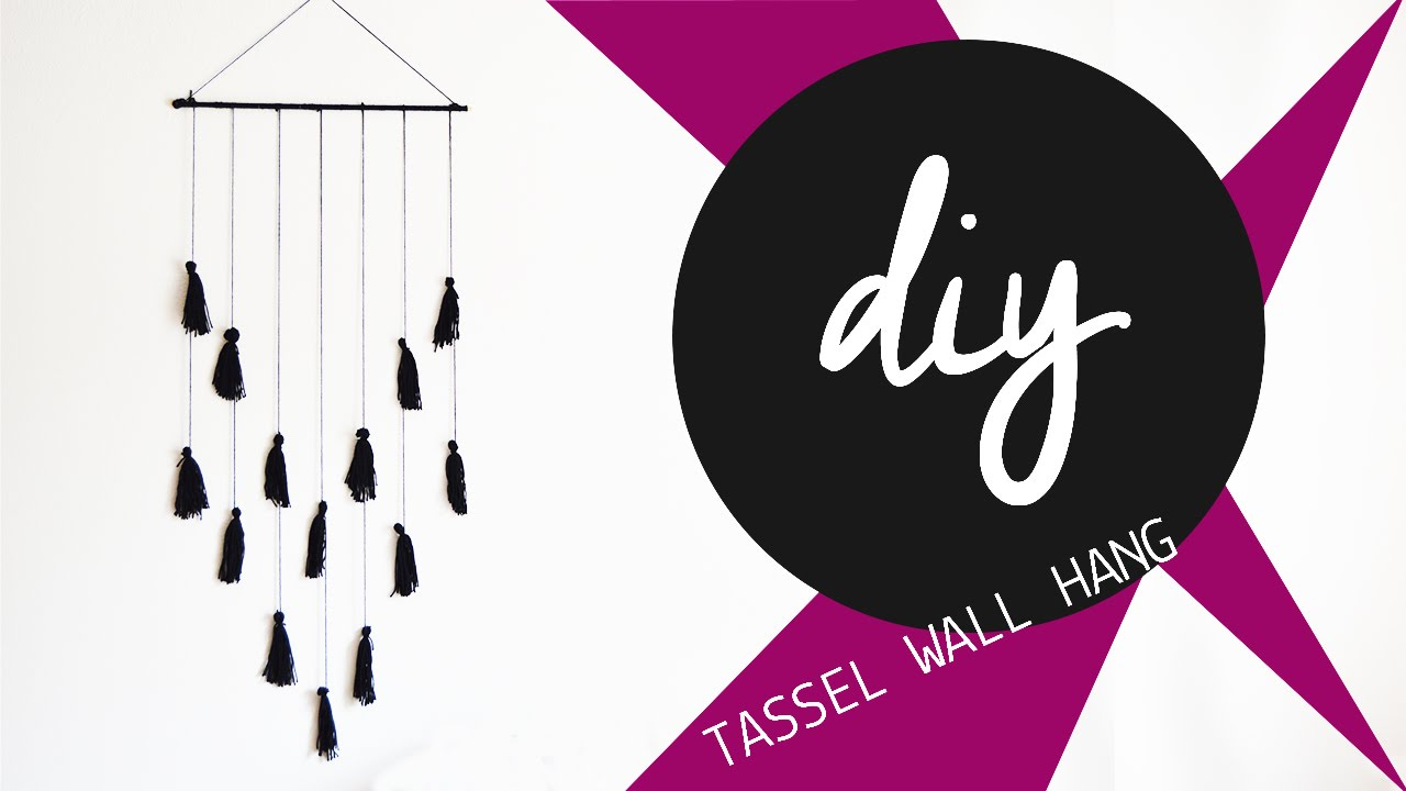 How To Hang Pictures On A Wall diy fall wall decor // yarn tassel wall hang - youtube