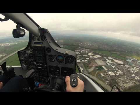 Partenavia P68 Liverpool to Hawarden - Cockpit View