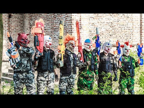Special Task SWAT Warriors Nerf Guns Fight Crime Group Mask Tiger Man Nerf War Arsenal Guard