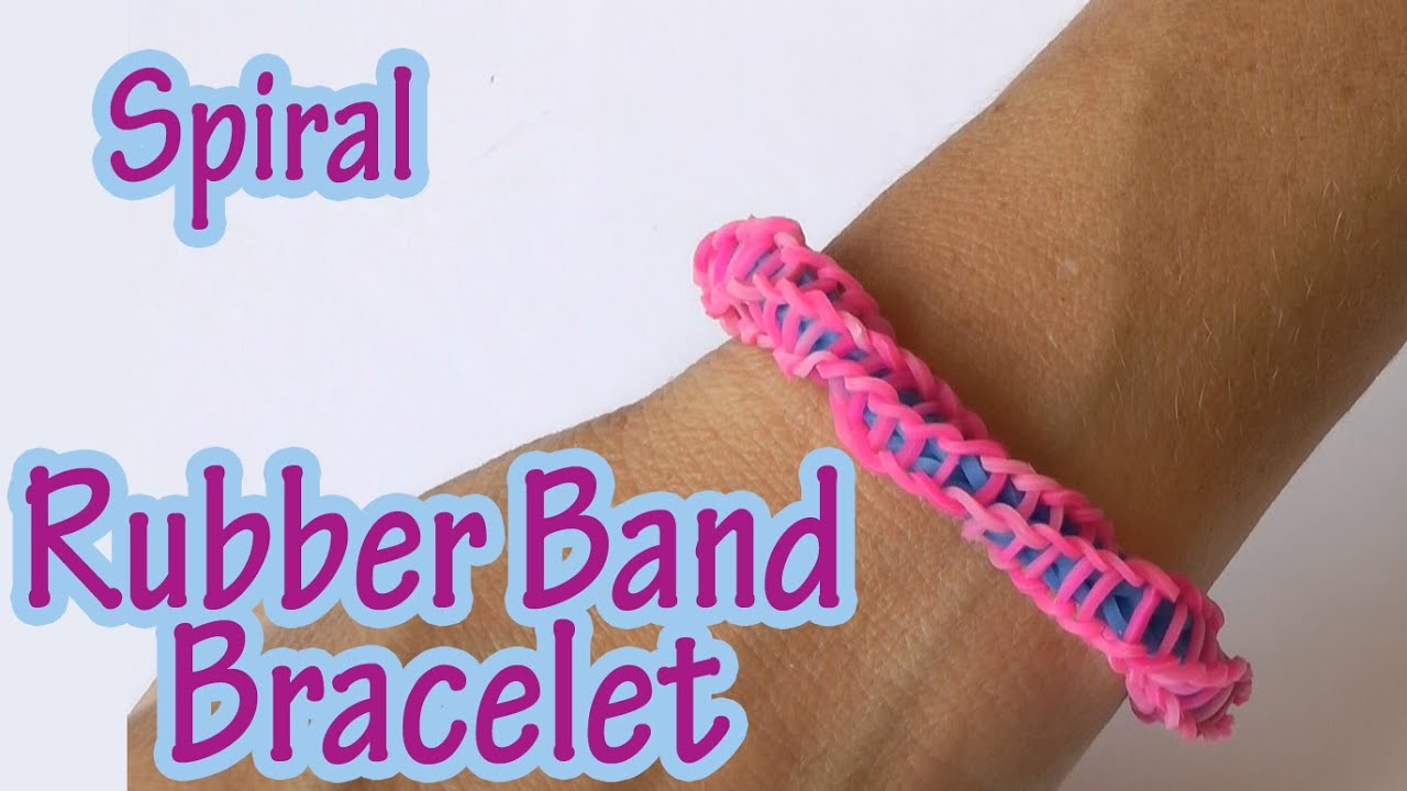 diy crafts spiral rubber band bracelet without loom