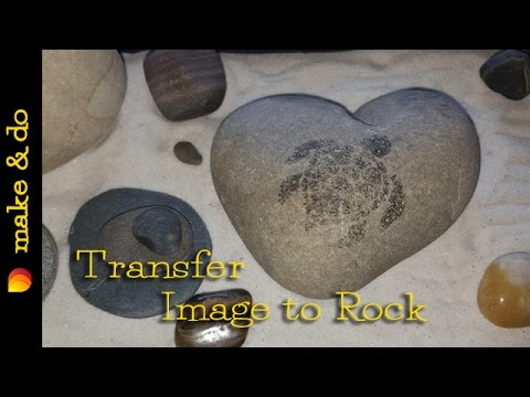 Diy how to transfer an image to rock fast easy youtube diy how to transfer an image to rock fast easy solutioingenieria Images