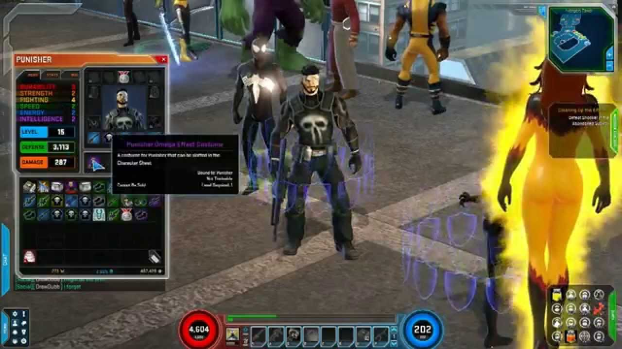 Marvel Heroes 2015 - Punisher Omega Effect Costume Gameplay