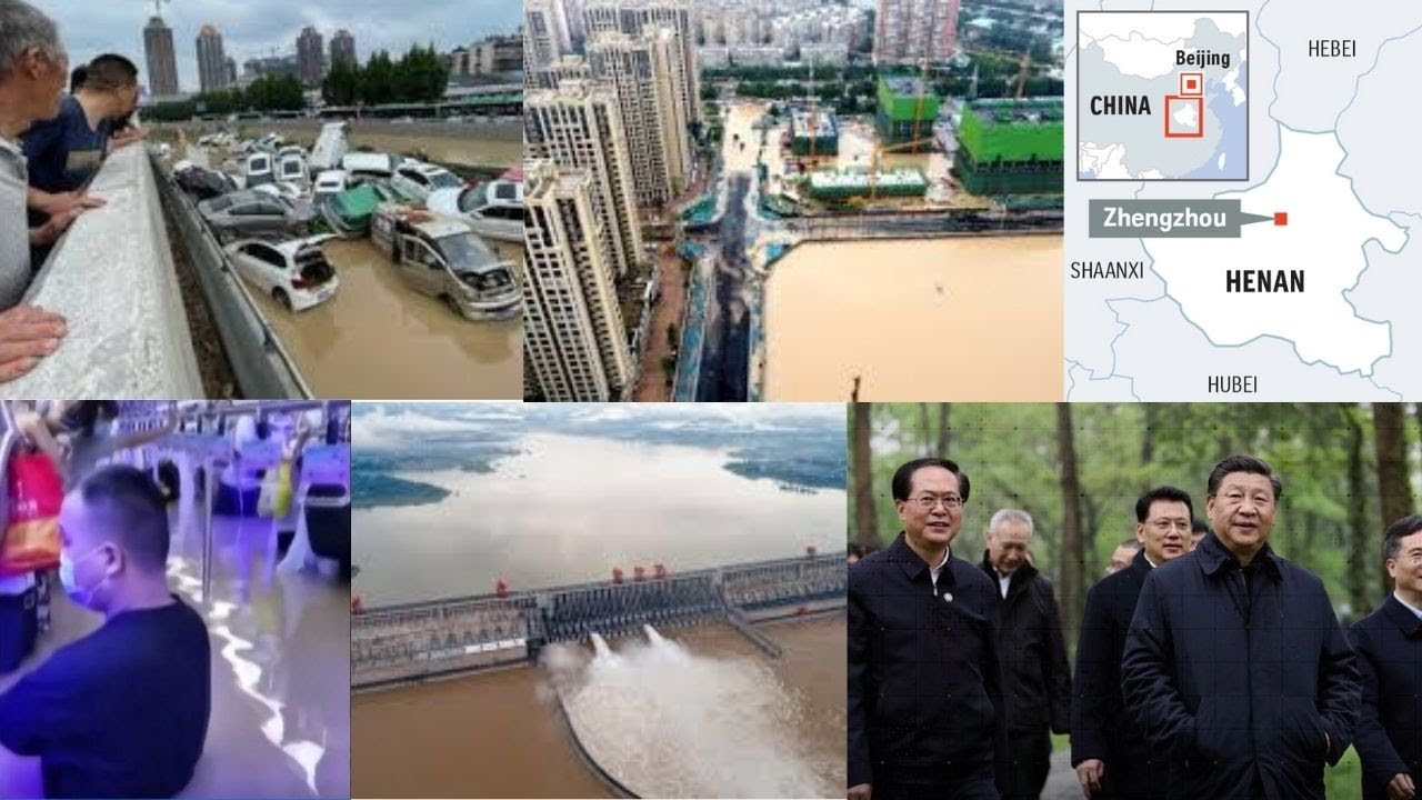China blasts dam to divert floods that killed at least 25 people