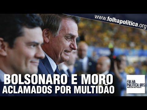 Bolsonaro e Sergio Moro são aclamados por multidão e General Heleno e Moro concedem entrevista