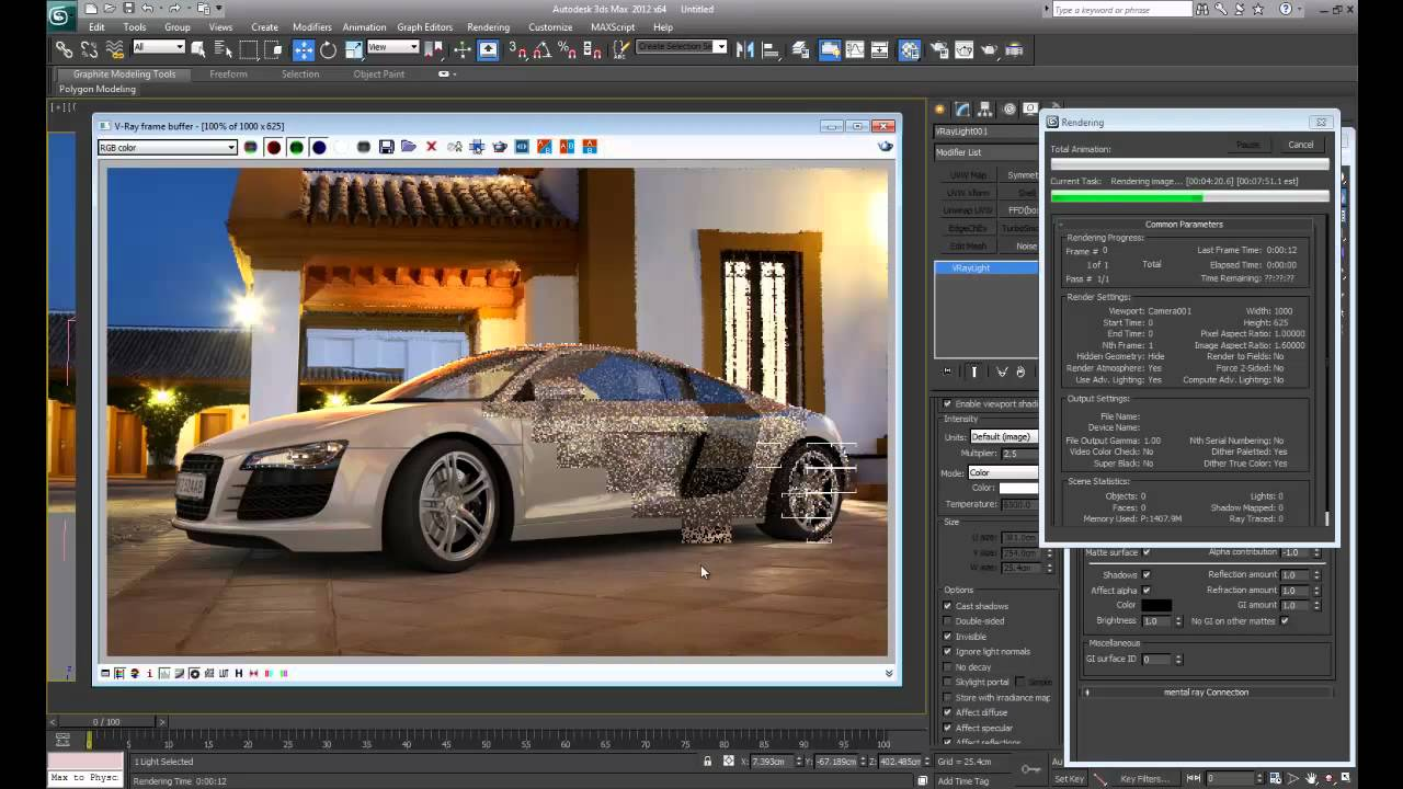 Create a photorealistic car render using 3ds max and vray for Espejo 3d max vray