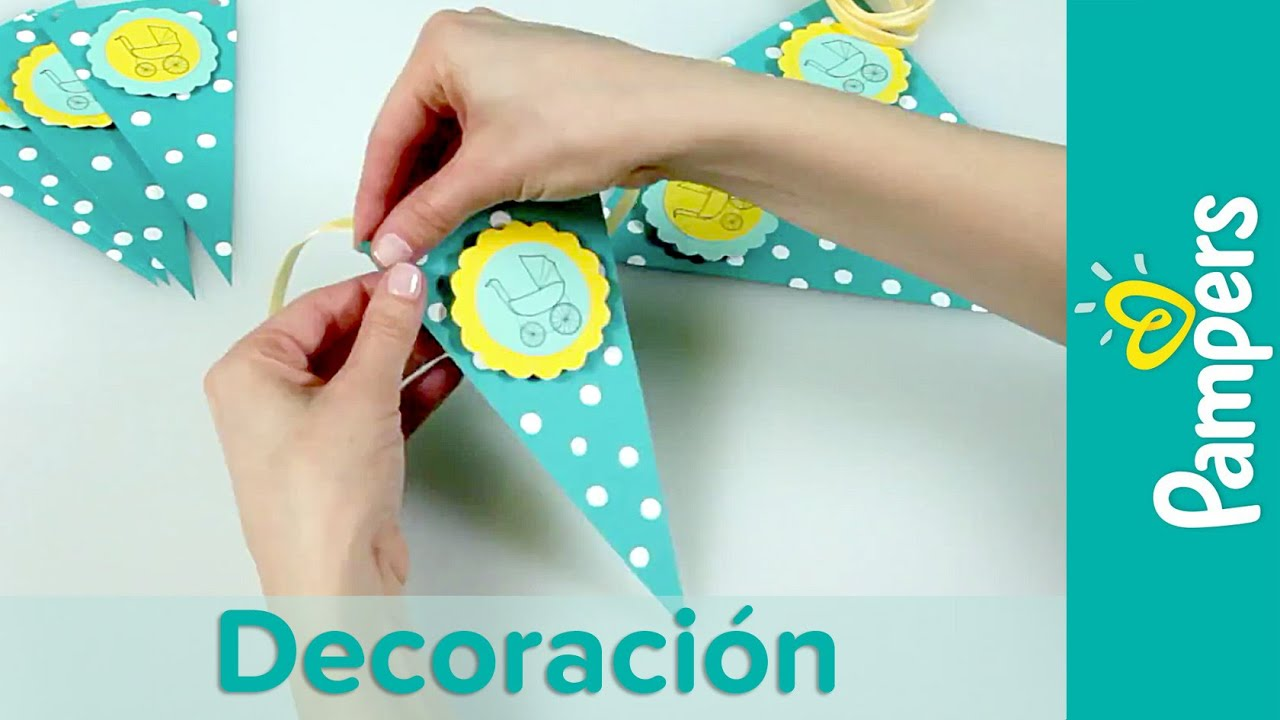 diy decoraci n para baby shower guirnalda decorativa pampers