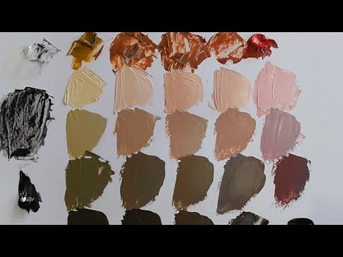 Mixing skin colors. The Zorn palette. Painting.