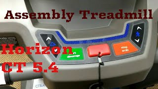 Horizon Ct 5.4 Treadmill Assembly From Canadian Tire