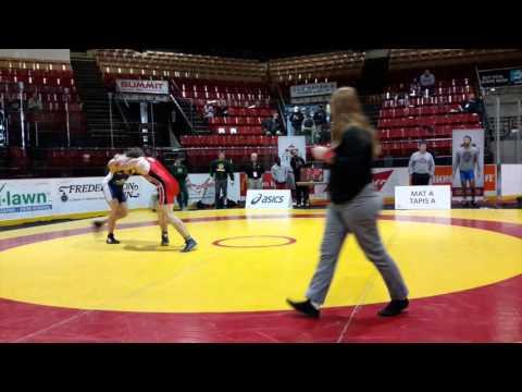 2016 Canadian Junior Championships: 74 kg Aidan McKeage vs. Cody Osborn