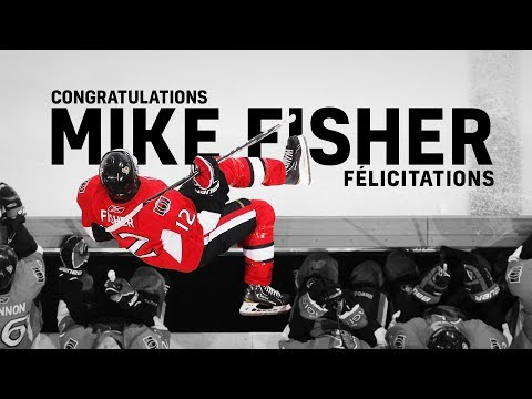 Congratulations Mike Fisher
