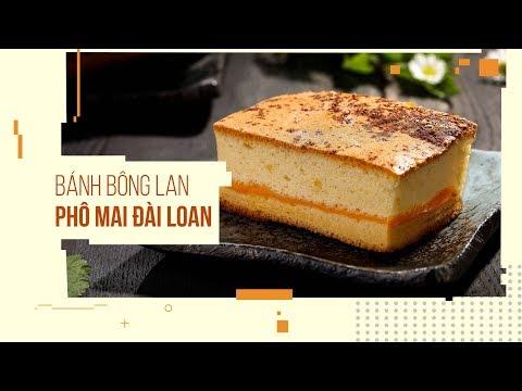 Cách làm bánh Bông Lan Phô Mai Đài Loan ĂN LÀ GHIỀN - Castella Cheese Cake   Hướng Nghiệp Á Âu
