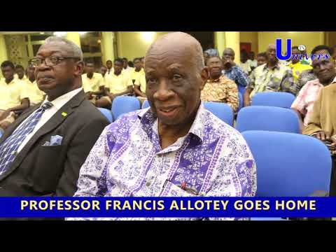 Watch Prof. Francis Allotey's final day at the Ghana Academy of Arts and Sciences