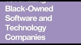 Black Owned Software and Technology Companies!!! [2017]
