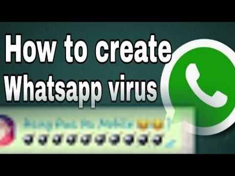 How to create whatsapp virus message?/how to create mobile hang hua kiya virus?/explained/(hindi)
