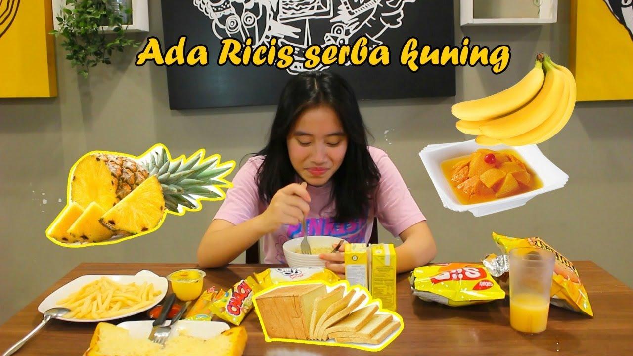 24 Jam Makan Yang Warna Kuning Ada Ricis Youtube