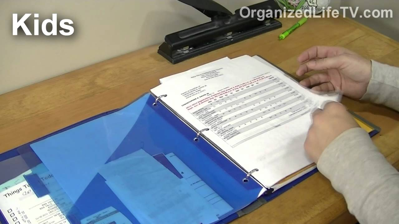 Organize Household Paperwork With Binders 2 Youtube