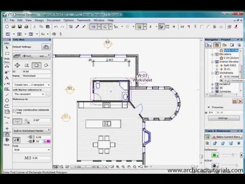 TUTORIAL ARCHICAD - Worksheets