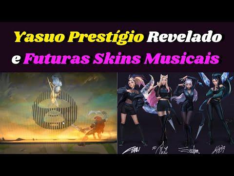 Yasuo Prestígio True Damage, Novas Músicas K/DA e possíveis Novas Skins com Clipe no Lol