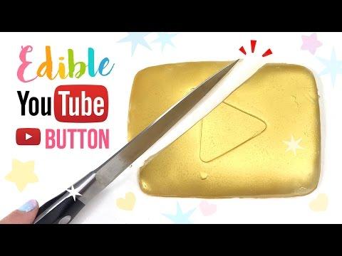 DIY EDIBLE Youtube Play Button!! DIY Jelly Gummy GOLD Play Button!