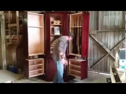 Monster Hidden Gun Cabinet By Ferrall S Woodworks