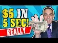 🔥Earn $5 In 5 Seconds..REALLY! (Make Money Online Fast!) 2019